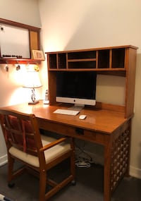 OFFICE DESK, FREE STANDING HUTCH, OFFICE CHAIR ON CASTOR WHEELS Mississauga, L5B 0G4