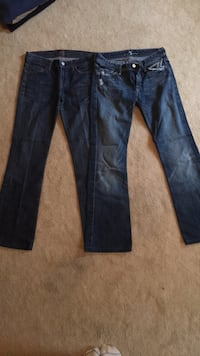 7 for all man kind jeans - 2 pairs size 26