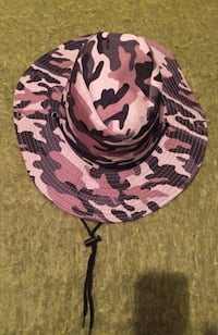 black brown and beige camouflage sun hat brand new