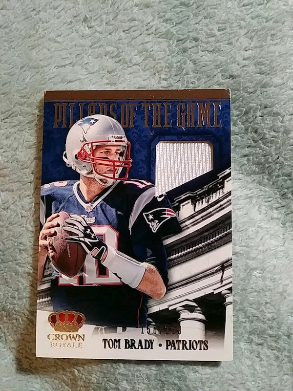 san francisco 3f893 348e4 2013 TOM BRADY GAME WORN JERSEY CARD
