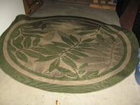 green and white floral area rug Beltsville