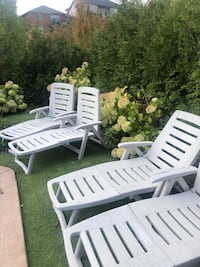 Folding lounge chairs, only used 1 summer!