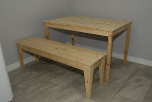 *NEW* Wooden Table and Bench Set