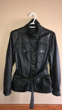 black leather button-up jacket Laval, H7P 3R1
