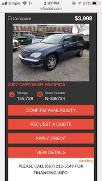 Chrysler - Pacifica - 2007 Baltimore