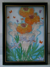 A4 ANGELS PENCIL COLOUR WALL ART IN FRAME  London
