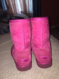 pair of pink UGG boots RIVERDALE