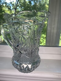 Cut glass crystal pitcher(s)