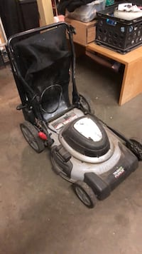 black and gray push mower Silver Spring, 20910