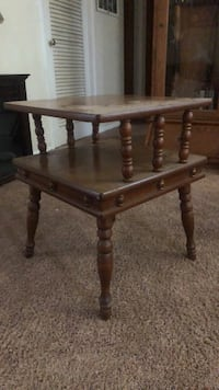 Brown wooden side table New Carlisle, 46552