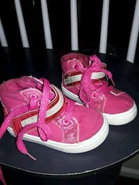 pair of pink-and-white high top sneakers Virginia Beach, 23462