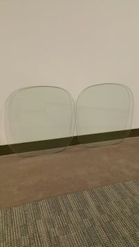 "TWO (2) 24"" SQUARE, HEAVY, POLISHED, TEMPERED GLASS TABLETOPS ($35 for both pieces bought together)  Arlington, 22204"