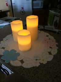 3 battery operated candles