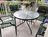 patio table and 4 chairs Vancouver