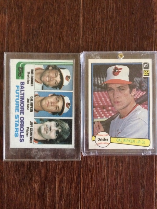 1982 Topps And Donruss Cal Ripken Jr Rookie Cards