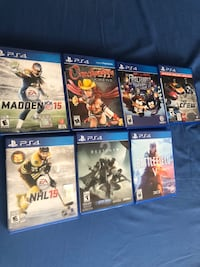 Assorted PS4 Games Toronto, M3N 1M7