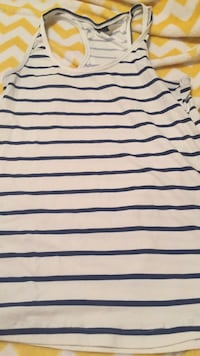 white and blue striped crew-neck shirt Griffin, 30223