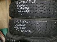 8.00R16.5LT Goodyear Workhorse Pair of 2 Airdrie, T4B 3G6