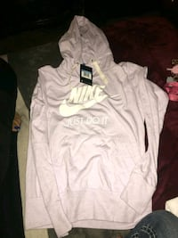 white and gray Nike pullover hoodie Fresno