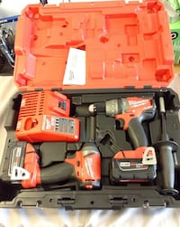 """""""New"""" Milwaukee 2997-22 Fuel 2-Tool 2803-20 Hammer Drill & 2853-20 Impact Driver, includes 2-5.0 Batteries, Charger and case. Wethersfield, 06109"""