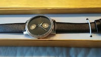 New Black Leather Watch