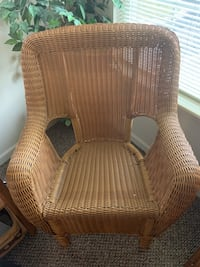 Used Six Antique Maple Caned Chairs 80 Sold Separate