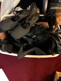 Full tote of Ladies boots and shoes sz 6.5-7! Black,Brown,Burgandy and Grey colors!! Baltimore, 21206