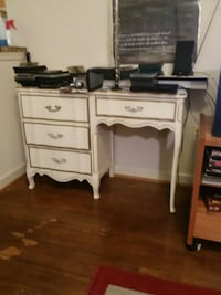 white wooden single pedestal desk Arlington, 22201