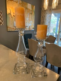 Set of glass candle holders  Porterville, 93257