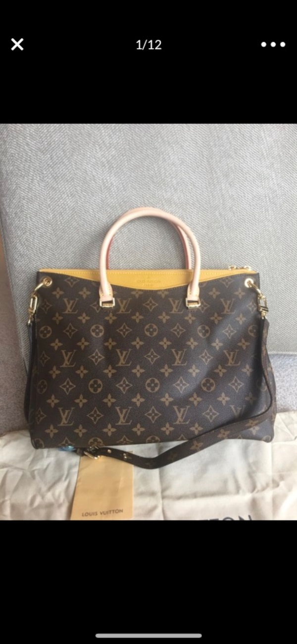 15aefe9ea9bc Used black and brown Louis Vuitton monogram leather tote bag for ...