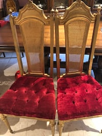 2   Solid wood chairs, vintage.  Mississauga, L5L 3E4