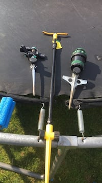 two black and gray fishing rods Surrey, V3W 6M9