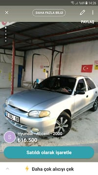 2000 Model Hyundai Accent 1.3 lx Eskişehir