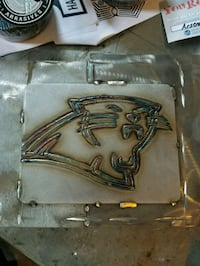 Panthers Stainless tig welded logo plate Princeton, 27569