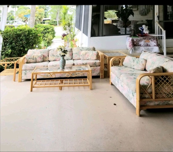Used 5 piece bamboo living room/lanai set naples for sale in Naples ...