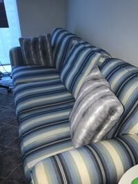 Blue and gray fabric sofa chair Miami, 33130
