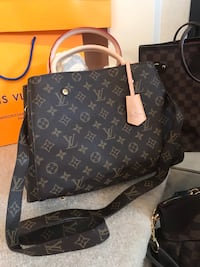 black and brown Louis Vuitton leather tote bag Surrey