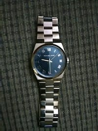 round silver-colored analog watch with link bracelet Las Cruces, 88007