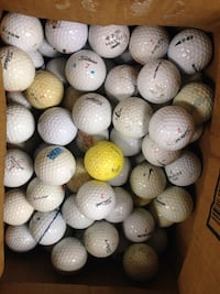 100 golf balls, not playable, but good for practicing your swing.