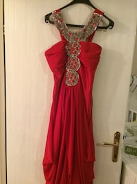 Women's red and silver dress