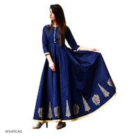 blue and white long-sleeved dress Bhopal, 462008