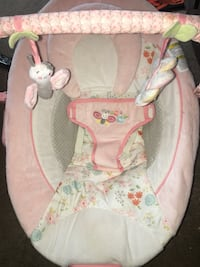 Pink Ingenuity bouncer chair