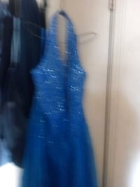 Formal blue seguinse dress