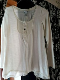 White Blouse With Button Accents Valrico, 33596