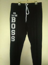 Ladies brand new size large I'm the boss joggers$5 Spartanburg, 29303
