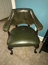 brown wooden framed brown leather padded armchair Decatur, 35601