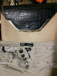 gray and black leather tote bag Winnipeg, R2W 1Z4