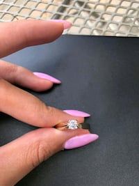 Gold Solitaire Diamond Ring