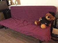 Purple padded bench Sofa bed