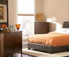 Cal King Upholstered Bed Frame - new